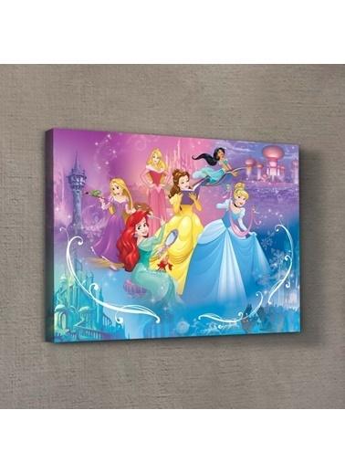 Disney Prensesler-2 30x40 cm Kanvas Tablo Renkli